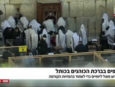 אלפים בברכת הכוהנים בכותל (צילום: חדשות)