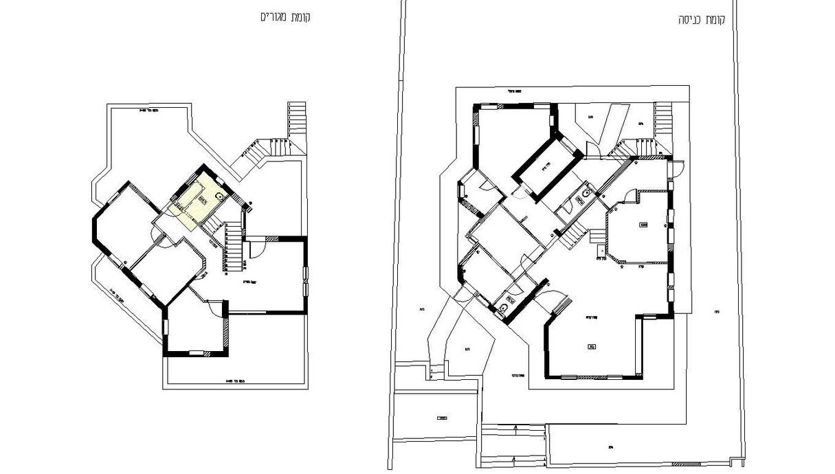 בית במושב בשרון, עיצוב ליאת הדס, תוכנית לפני שיפוץ