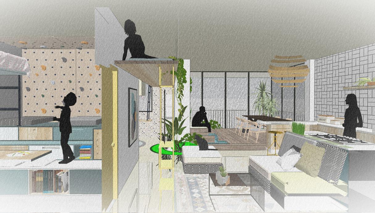 דירת חלומות, תכנון מעצב הפנים רועי זליחובסקי - 2