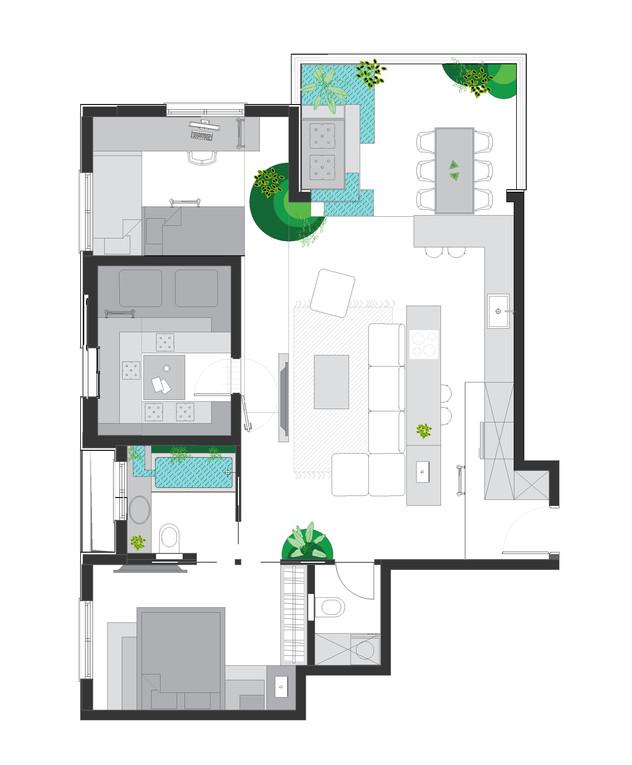דירת חלומות, ג, תכנון מעצב הפנים רועי זליחובסקי