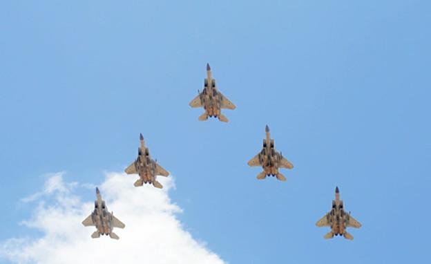"""לרגל יום העצמאות ה-73: חיל האוויר יקיים מטס הצדעה מעל ערי ישראל (צילום: דובר צה""""ל )"""