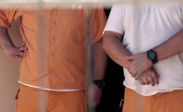 אסירים בכלא חרמון (צילום: החדשות 12)