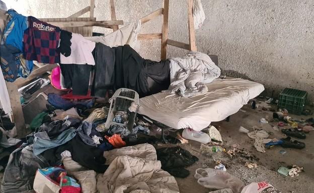 זירת רצח דר רחוב בחולון (צילום: החדשות 12)