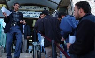 תור במשרד הרישוי בירושלים לאחר שביתה (צילום: פלאש 90)
