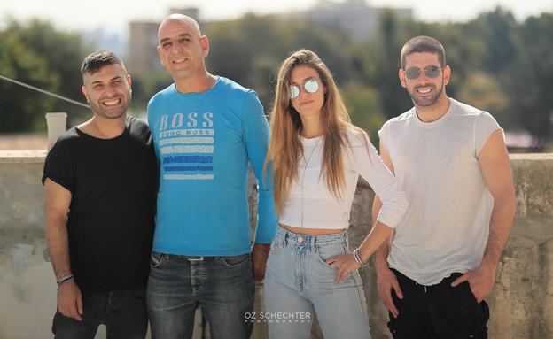סיירת שיפוצים, רותם ללוש ענבר יטיב פאדי יוסף ולירון גנהמם (צילום: עוז שכטר)