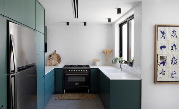 מטבח ירוק, עיצוב דיקלה גלזר (צילום: שירן כרמל)