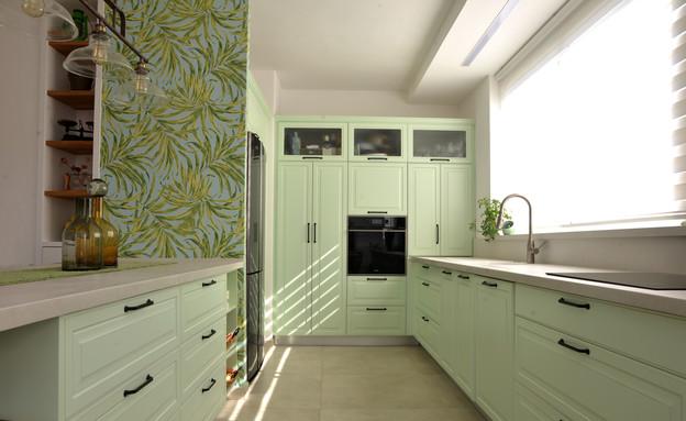 מטבח ירוק, עיצוב ליאור מטלוב קורמס ומטבחי דקל (צילום: ריקי זהבי)