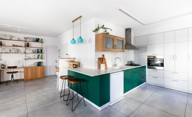 מטבח ירוק, עיצוב מורן אדיר (צילום: אבי קבלו)
