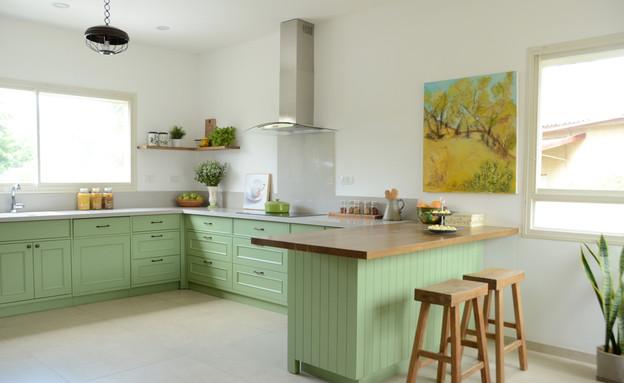 מטבח ירוק, עיצוב עדי מינץ - 2 (צילום: יפעת ירושלמי)
