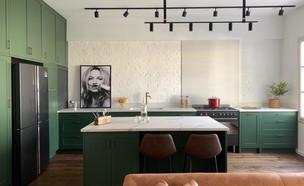מטבח ירוק, עיצוב שירי הלר שוורץ (צילום: אנסטסיה פרילוצקי)