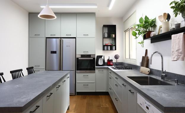 מטבח ירוק, עיצוב אדריכלית מיטל אשכנזי פומרנץ (צילום: שירן כרמל)