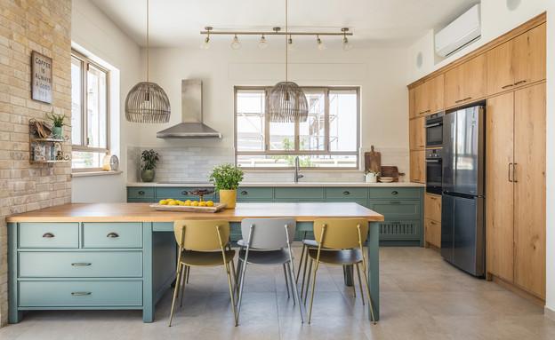 מטבח ירוק, עיצוב אסנת קציר (צילום: עינת דקל)