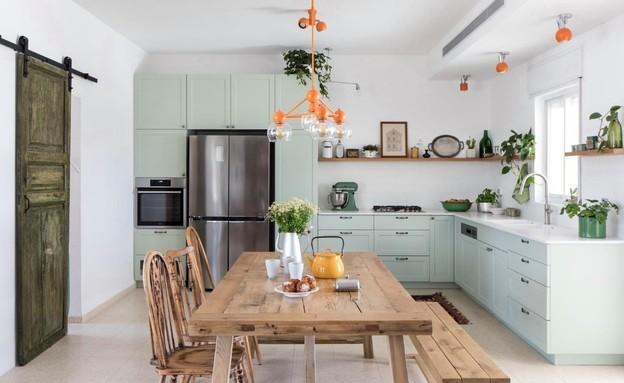 מטבח ירוק, עיצוב דבורי פריד טובול (צילום: עינת דקל)