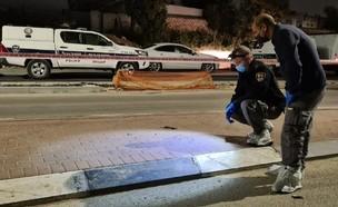 אירוע ירי ברהט (צילום: דוברות המשטרה)