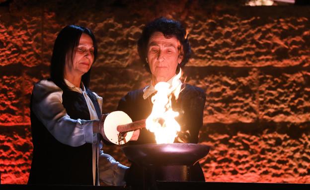 הטקס המרכזי ביד ושם (צילום: אוליבייר פיטוסי, פלאש 90)