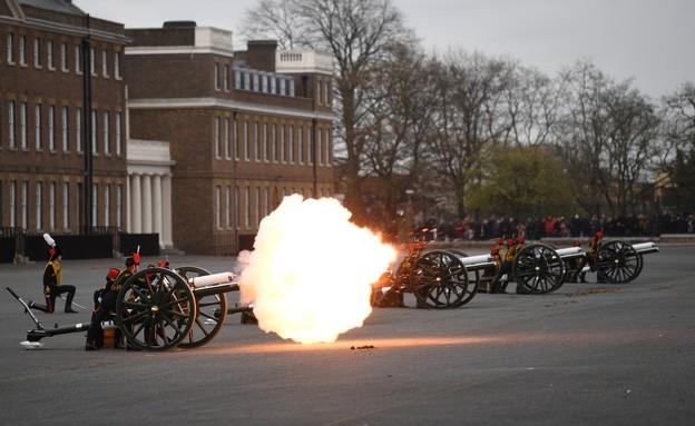 מטח כבוד לציון מותו של הנסיך פיליפ במרכז לונדון (צילום: רויטרס)
