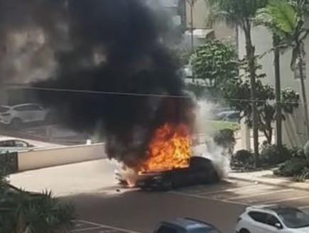 נתניה: מטען חבלה התפוצץ ברכב פרטי
