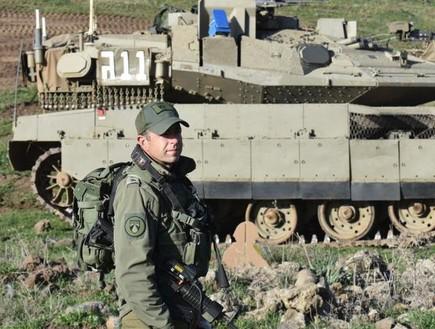 """המח''ט והטנק (צילום: דובר צה""""ל )"""