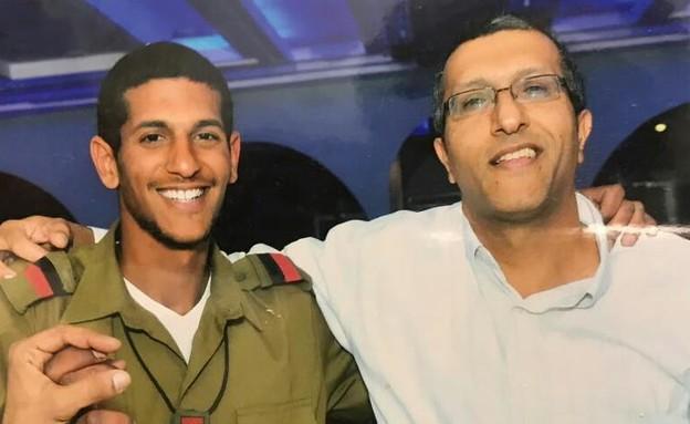 """סרן נתן כהן ז""""ל עם אביו, דוד (צילום: באדיבות המשפחה)"""