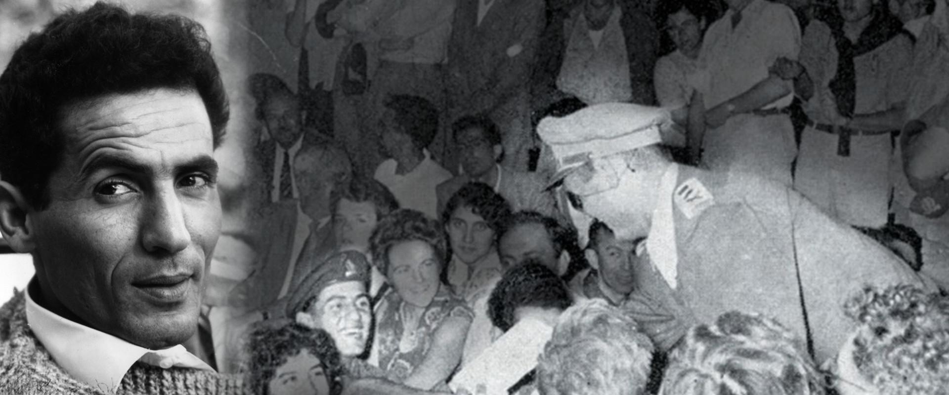 יצחק ג'יבלי עם משה דיין (צילום: עיתון במחנה, מתוך