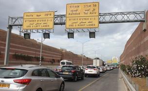 פקק תנועה השבוע בכביש 471 ליד פתח תקוה (צילום: גיא ליברמן, גלובס)
