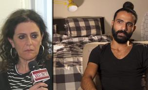 איציק סעידיאן ואמו המאמצת (צילום: החדשות 12)