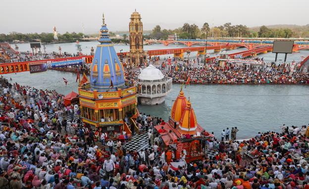 פסטיבל הקומבה מלה בהודו (צילום: שי פרנקו, רויטרס)