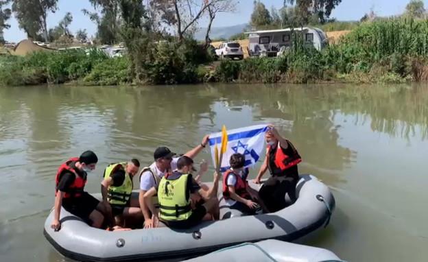 רפטינג בנהר הירדן יום העצמאות (צילום:  רפטינג נהר הירדן)