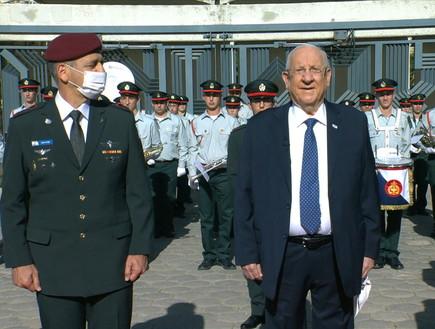 """בית הנשיא, יום העצמאות, טקס חיילים מצטיינים (צילום: לע""""מ)"""