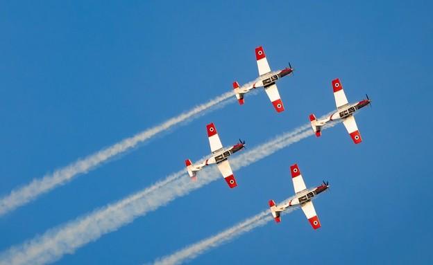 """מטס חיל האוויר, יום העצמאות 73 (צילום: דובר צה""""ל)"""