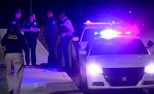 זירת הירי באינדיאנפוליס (צילום: sky news)