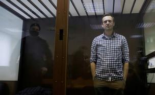 אלכסיי נבלני, מנהיג האופוזיציה ברוסיה, בבית המשפט (צילום: רויטרס)