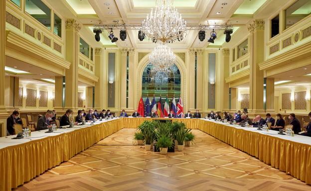 פגישת המעצמות עם אירן בשיחות הגרעין בווינה (צילום: רויטרס)