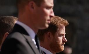 הנסיך וויליאם, הנסיך הארי, בלוויה של הנסיך פיליפ (צילום: getty images)