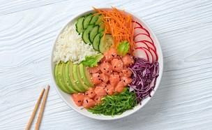 קערת ירקות וסלמון (צילום: Indigo Photo Club, shutterstock)
