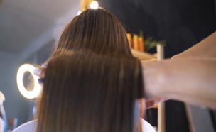 החלקת שיער (צילום: החדשות 12)