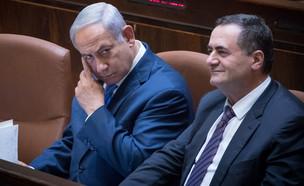 ישראל כץ ובינימין נתניהו (צילום: Yonatan Sindel Flash 90, פלאש 90)