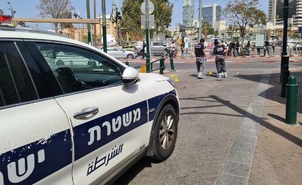 זירת אירוע החשד לרצח בנווה שאנן (צילום: דוברות המשטרה)