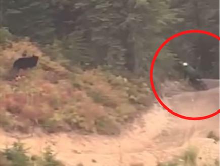 פחד מוות: רכב על אופניים במדרונות ההר - ונרדף על ידי דוב שחור
