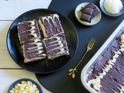 קינוח קוקוס, פצפוצי אורז ושוקולד (צילום: שרון ברקוביץ', ברקו מייד)