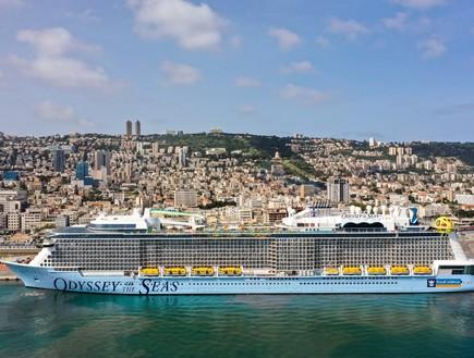 """דיווח: השיט על """"Odyssey of the Seas"""" מחיפה צפוי להתבטל בעקבות המבצע בעזה"""
