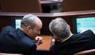 נפתלי בנט ויאיר לפיד בהשבעת הכנסת (צילום: Yonatan SindelFlash90, פלאש 90)