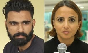 """איציק סעידיאן ולאה סעידיאן (צילום: מתוך """"חדשות הבוקר"""" , קשת 12)"""