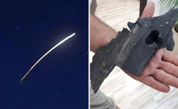 השברים של הטיל שנפל בנגב