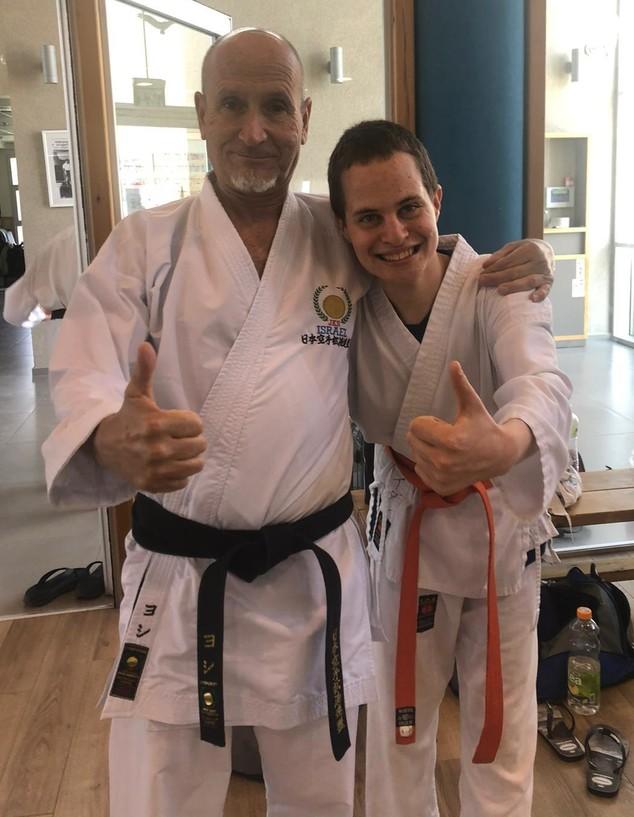 עידן לוי והמאמן האישי יוסי שפירא - בתחילת הדרך (צילום: צילום פרטי, באדיבות המצולמים)