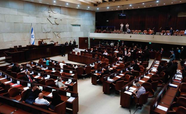 מליאת הכנסת ביום הבחירות לנשיאות המדינה (צילום: יונתן סינדל, פלאש 90)