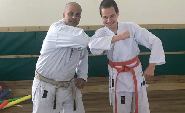 עידן לוי והמאמן רן חן (צילום: צילום פרטי, באדיבות המצולמים)