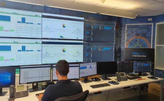 מרכז SOC במשרדי Dell Technologies   (צילום: שמשון אוסקר)