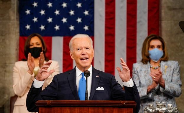 """הנשיא ביידן. """"אמריקה שוב בתנועה!"""" (צילום: רויטרס)"""