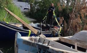 ספינת דיג לא חוקית שנתפסה בכנרת (צילום: רשות הטבע והגנים)